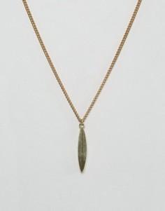 Ожерелье с подвеской-листиком Made - Золотой