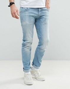 Суженные книзу выбеленные джинсы G-Star BeRAW Arc 3D - Синий