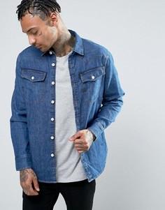 Узкая джинсовая рубашка с состаренным эффектом G-Star 3301 - Синий