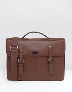 Кожаный портфель Ted Baker - Коричневый