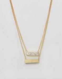 Двойное ожерелье с планками Made - Золотой