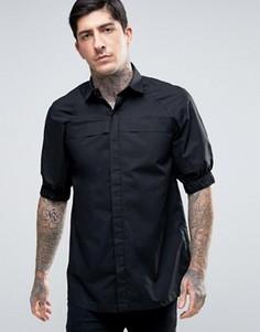 Рубашка скинни с эластичными манжетами Rogues Of London - Черный