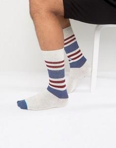 Белые спортивные носки с полосками Stance - Белый