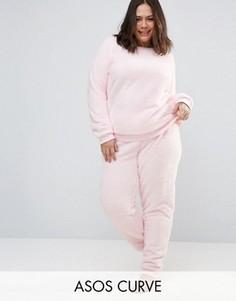 Супермягкая пижама ASOS CURVE - Розовый