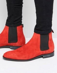 Замшевые ботинки челси Paul Smith Gerald - Красный