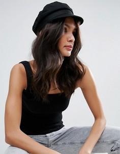 Саржевая кепка ASOS - Черный