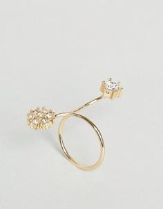 Кольцо с цветком ASOS - Медный