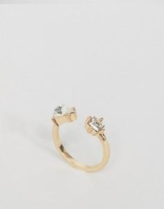 Кольцо с камнями ASOS - Золотой
