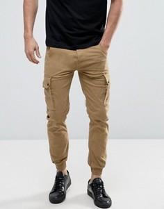Узкие брюки-карго с манжетами Jack & Jones Intelligence - Бежевый