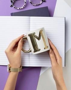 Кружка с принтом буквы М Sass & Belle - Мульти