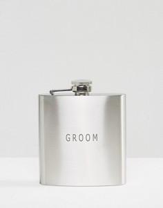 Плоская фляжка Groom - Мульти Gifts