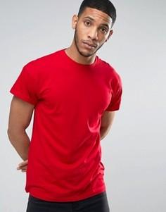 Красная футболка с отворотами на рукавах New Look - Красный