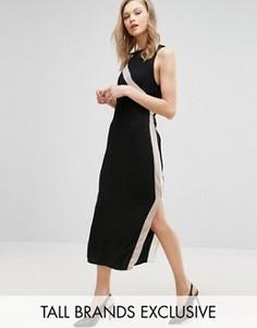 Платье-футляр с полосками сбоку Alter Tall - Черный