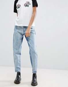 Джинсы в винтажном стиле с контрастными вставками Chorus - Синий