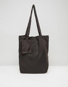 Черная складывающаяся сумка-тоут ASOS - Черный