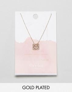 Позолоченное ожерелье Розовая чакра Orelia - Золотой