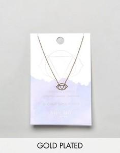 Позолоченное ожерелье с подвеской Третий глаз Orelia - Золотой