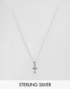 Серебряное ожерелье с подвеской-крестом Kingsley Ryan - Серебряный