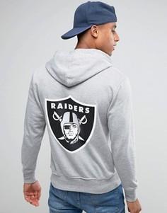 Худи с принтом на спине Majestic Raiders - Серый