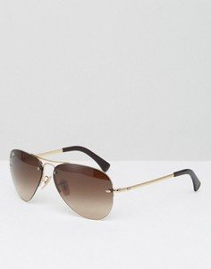 Солнцезащитные очки-авиаторы со светоотражающим покрытием Ray-Ban - Коричневый