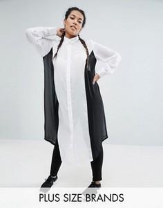 Полупрозрачная oversize-рубашка One One Three - Мульти