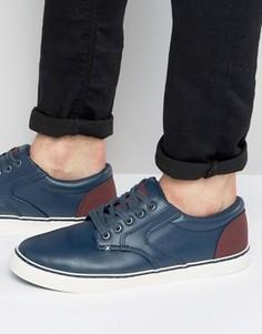 Темно-синие кроссовки с контрастной отделкой New Look - Темно-синий