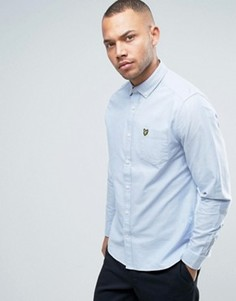 Голубая классическая оксфордская рубашка на пуговицах с логотипом-орлом Lyle & Scott - Синий