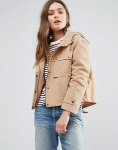 Короткая куртка с капюшоном New Look - Бежевый