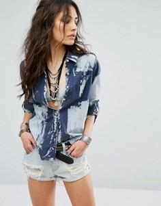 Рубашка с эффектом кислотной стирки Glamorous - Серый