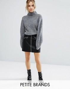Юбка-трапеция на молнии New Look Petite - Черный