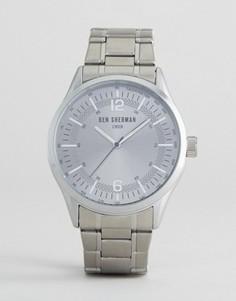 Серебристые часы-браслет Ben Sherman - Серебряный