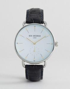 Черные часы с кожаным ремешком Ben Sherman - Черный