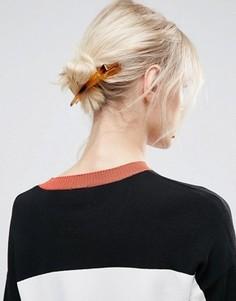Черепаховая заколка для волос ASOS - Коричневый