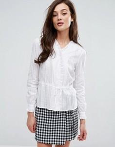 Рубашка на завязке спереди Fashion Union - Белый
