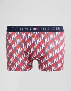 Фактурные боксеры-брифы в ломаную клетку Tommy Hilfiger - Красный