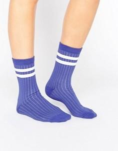 Носки в рубчик с полосками ASOS - Синий
