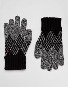 Перчатки с узором в ромбик Original Penguin - Черный