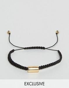 Черный плетеный браслет DesignB London - Черный