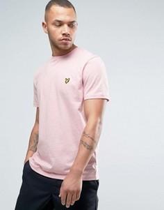 Меланжевая футболка классического кроя с логотипом-орлом Lyle & Scott - Розовый