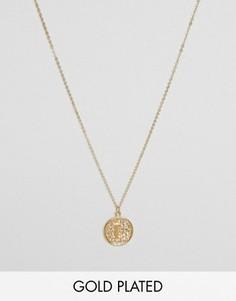 Ожерелье с инициалом L на подвеске Ottoman Hands - Золотой