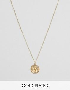 Ожерелье с инициалом S на подвеске Ottoman Hands - Золотой