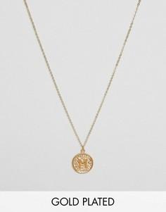 Ожерелье с инициалом М на подвеске Ottoman Hands - Золотой