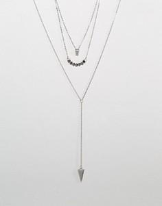Многоярусное ожерелье Ashiana - Серебряный