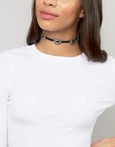 Ожерелье-чокер в стиле вестерн Ashiana - Черный