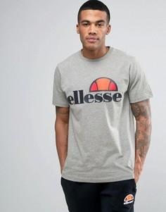 Футболка с классическим логотипом Ellesse - Серый