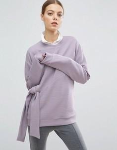 Фактурный свитшот с узлом ASOS - Фиолетовый
