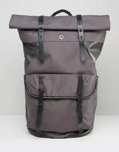 Парусиновый рюкзак ролл-топ с кожаной отделкой Stighlorgan Ronan - Серый