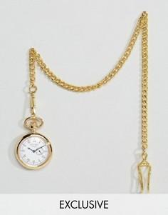 Золотистые карманные часы с дополнительным циферблатом Reclaimed Vintage - Золотой