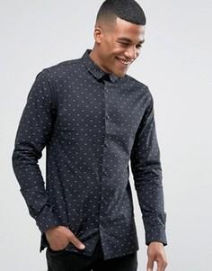 Рубашка с узором Jack & Jones - Черный