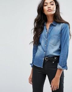 Свободная джинсовая рубашка JDY - Синий